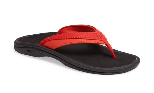 OLUKAI Women's Ohana Sandal, Tigers Blood/Ice