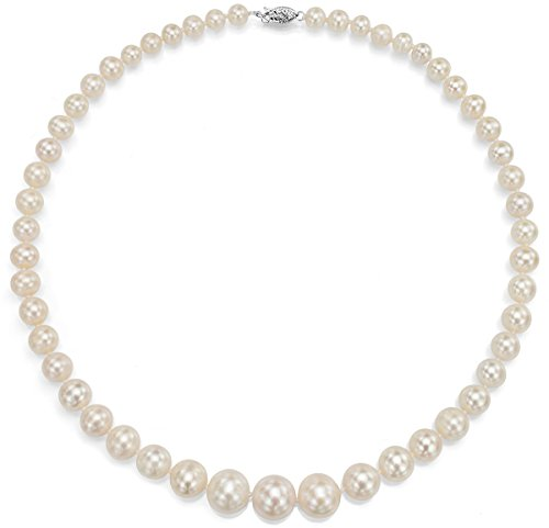 14K White Gold White Cultured Freshwater Pearl Necklace
