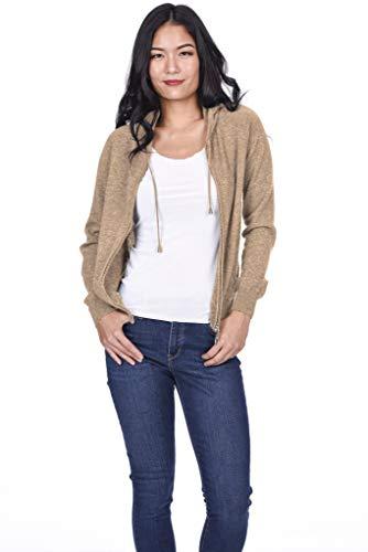 State Cashmere Women's 100% Pure Cashmere Full Zipper