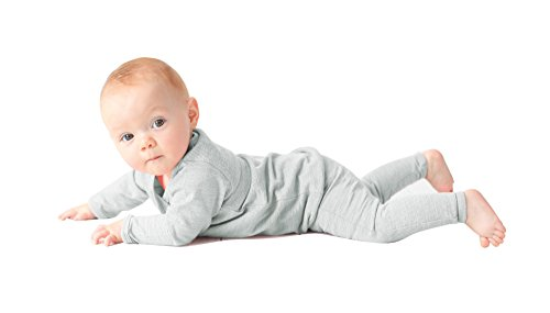 Merino Kids Long-Sleeve Thermal Set, Turtle Dove