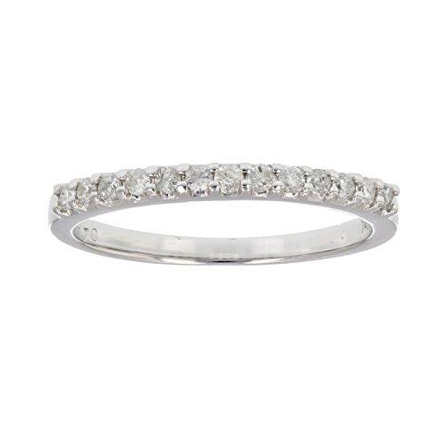Vir Jewels 1/5 cttw Pave Diamond Wedding Band in 14k White Gold