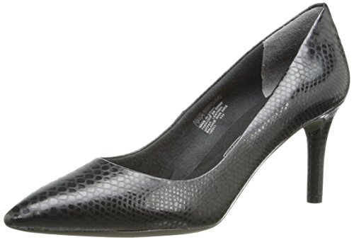 Rockport Women's Total Motion 75mm Pointy Toe Pump Nero Python
