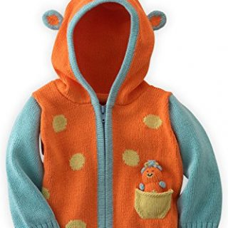 Joobles Organic Baby Cardigan Sweater - Jiffy the Giraffe
