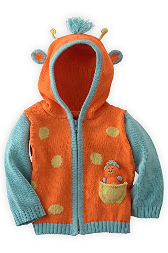 Joobles Organic Baby Cardigan Sweater - Jiffy the Giraffe