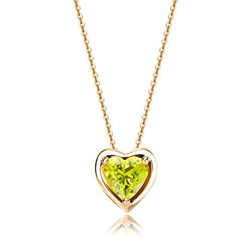 Carleen Solid 14K Yellow Gold Birthday Heart Shape