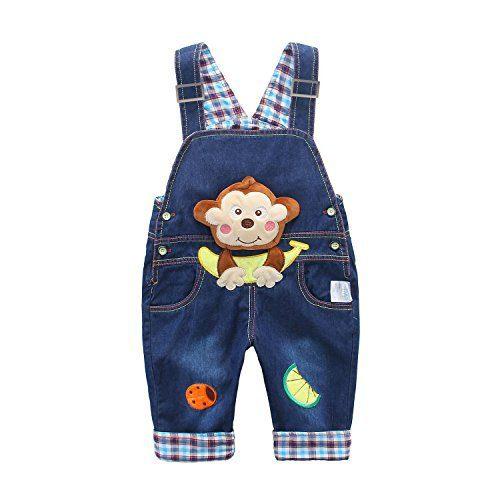 Baby Kids Denim Overalls Boys Girls Toddler Jeans