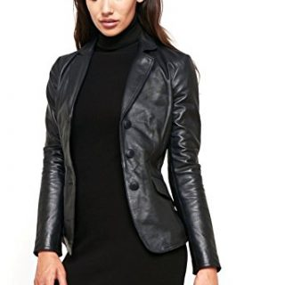 World of Leather Women's Lambskin Genuine Leather Jacket