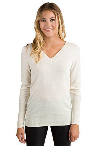 JENNIE LIU Women's 100% Pure Cashmere Long Sleeve
