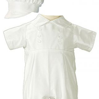 Little Things Mean A Lot Baby Boys Silk Christening Outfit
