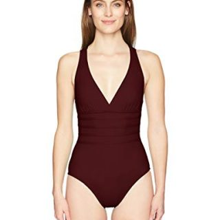 La Blanca Women's Island Goddess Multi Strap Cross Back One Piece