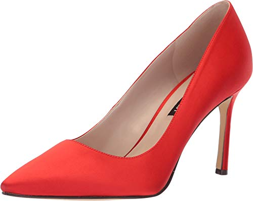 Nine West Women's Emmala Pump Red Satin