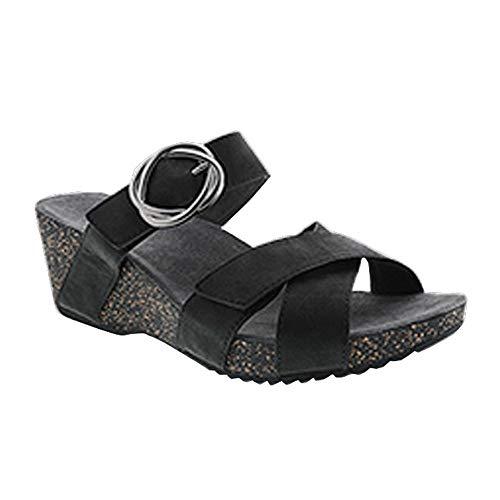 Dansko Women's Susie Sandals (Black Milled Nubuck)