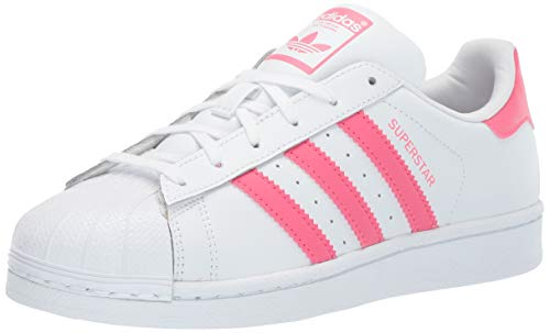 adidas Originals Baby Superstar Running Shoe, White Real Pink