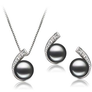 Claudia Black 7-8mm AA Quality Freshwater Sterling Silver Cultured Pearl Set