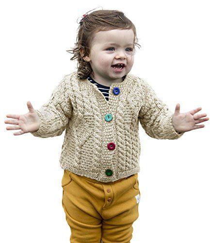 Aran Woollen Mills Baby Wool Irish Jacket Sweater