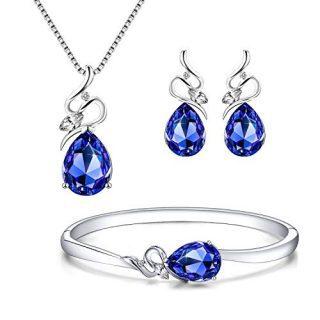 Menton Ezil Angel Eyes Swarovski Necklace Earrings Tennis Bracelet