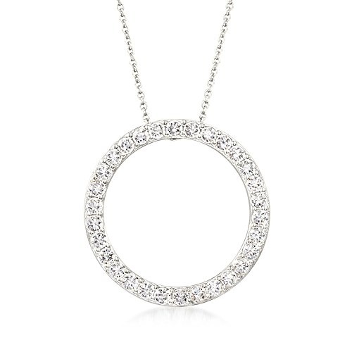 Ross-Simons 2.25 ct. t.w. CZ Open Eternity Circle Pendant Necklace