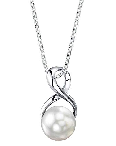 THE PEARL SOURCE 9-10mm Genuine White Freshwater Cultured Pearl