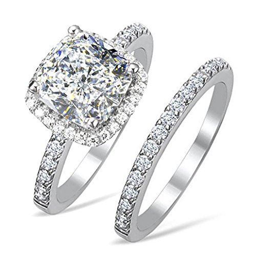 Diamonbella 101 facets 2 Carat Princess Cushion Cut NSCD Simulated