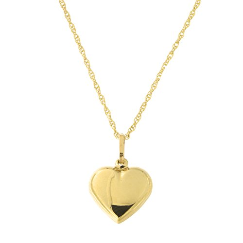 Beauniq 14k Yellow Gold Heart Pendant Necklace