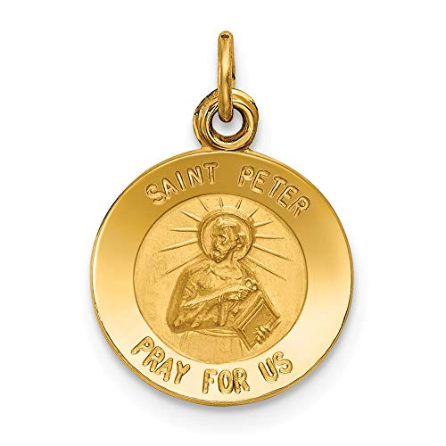 Jewels By Lux 14K Yellow Gold Saint Peter Medal Charm