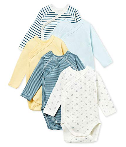Petit Bateau Baby Boy's Newborn Bodysuit - Set of 5 Sizes