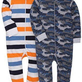 MZL 2-Pack Baby Infant Boy Girl Pajamas Romper Clothes Bodysuit