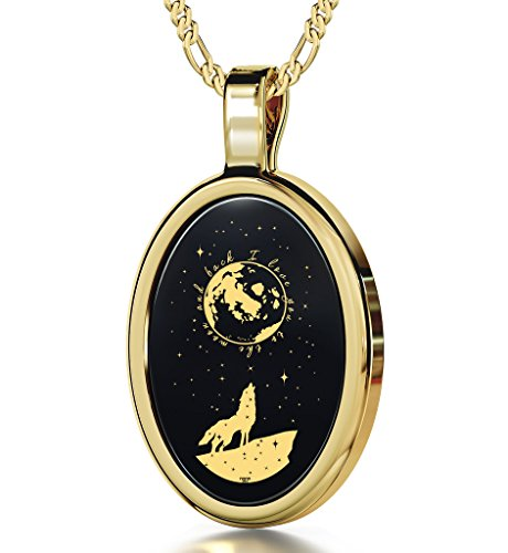 Nano Jewelry Gold Plated I Love You to The Moon and Back Necklace