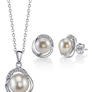 THE PEARL SOURCE 8mm & 9mm White Freshwater Cultured Pearl