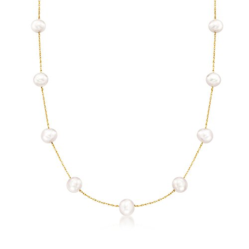 Ross-Simons 6-6.5mm Cultured Pearl Station Necklace