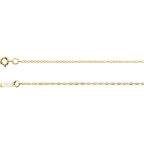 Jewels By Lux 14K Yellow Gold 1mm Cable