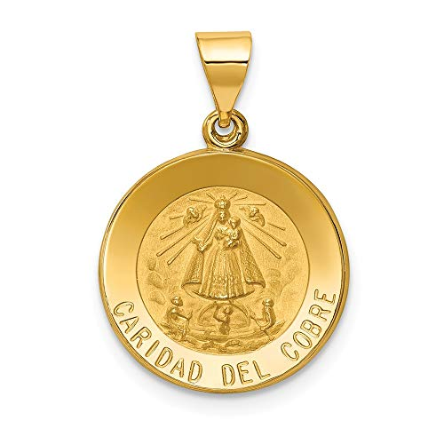 Jewels By Lux 14K Yellow Gold Polished and Satin Caridad del Cobre