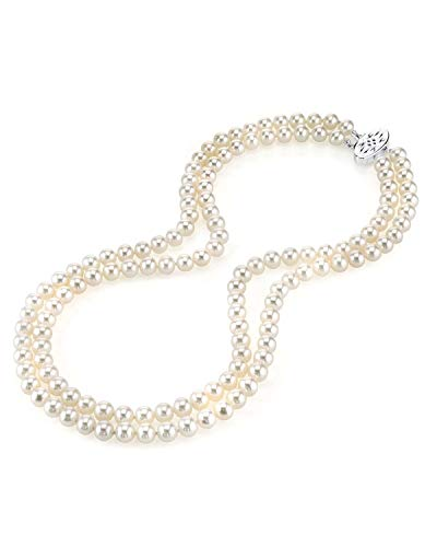 THE PEARL SOURCE 7.0-7.5mm AAA Quality Double Strand White