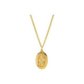 """Jewels By Lux 24K Gold Plated 29x18mm St. Jude 24"""" Necklace"""