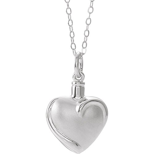 "Jewels By Lux Sterling Silver Heart Ash Holder 18"" Necklace"