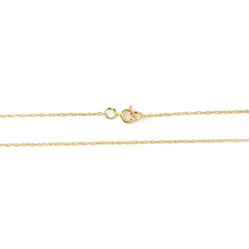 Beauniq 14k Yellow Gold Rope Chain Necklace