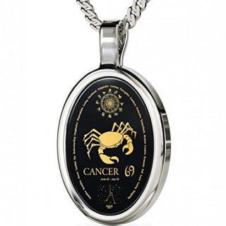 Nano Jewelry 925 Silver Zodiac Pendant Cancer Necklace