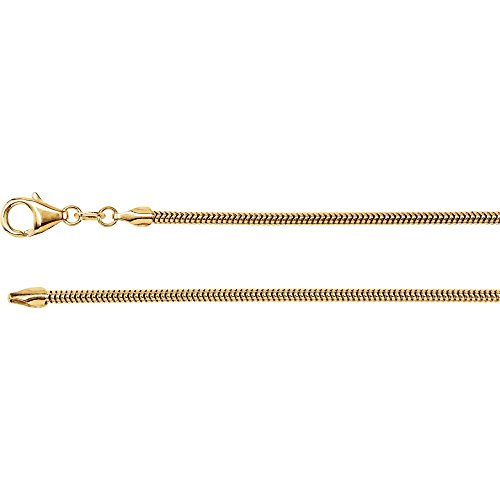 Jewels By Lux 14K Yellow Gold 2mm Solid Round Snake
