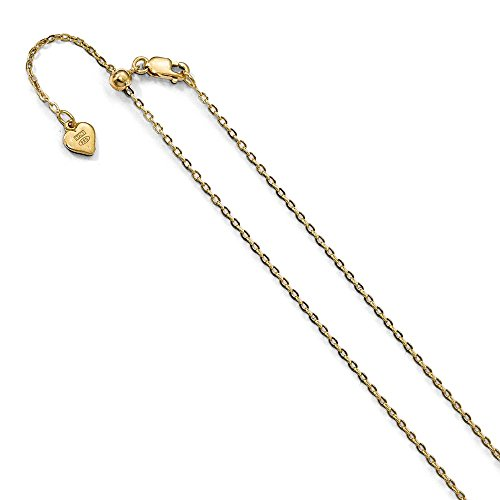 Jewels By Lux Leslie's Sterling Silver 1.4 mm Gold-plated 22in Adjustable Cable