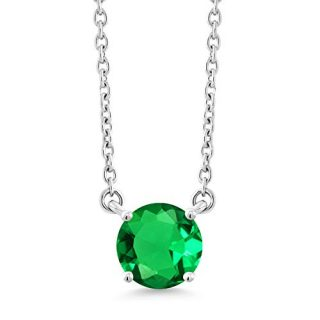 Gem Stone King 1.22 Ct Round Green Simulated Emerald