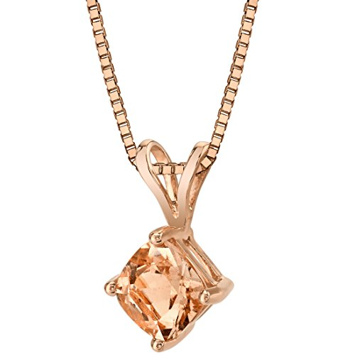 14 Karat Rose Gold Cushion Cut 1.00 Carats