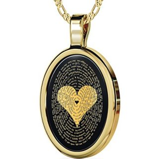 Nano Jewelry Gold Plated I Love You Necklace 24k Gold