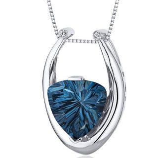 Concave Trillion Cut 7.00 carats Sterling Silver Rhodium Finish London
