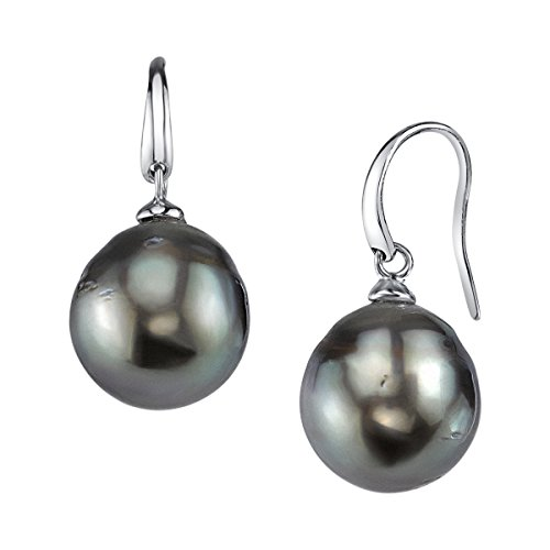 THE PEARL SOURCE 8-9mm Genuine Baroque Black Tahitian South Sea