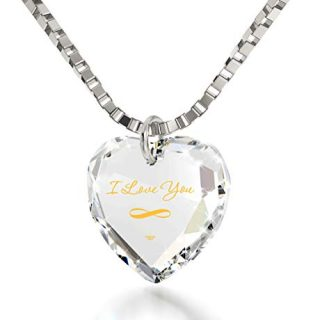 Nano Jewelry Infinity I Love You Necklace 24k Gold Inscribed