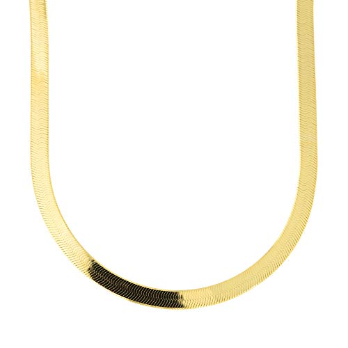 14k Yellow Gold 4.0mm Imperial Herringbone Necklace