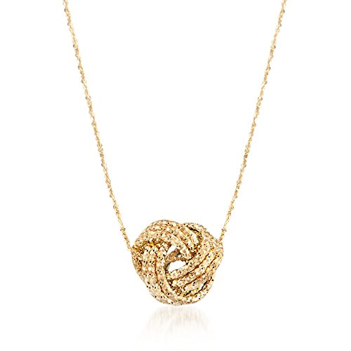 Ross-Simons Italian 14kt Yellow Gold Textured Love
