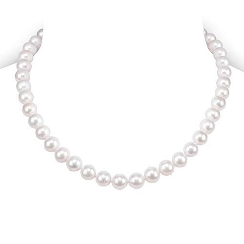 PAVOI Sterling Silver White Freshwater Cultured Pearl Necklace