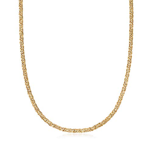 Ross-Simons 4mm 14kt Yellow Gold Byzantine Necklace