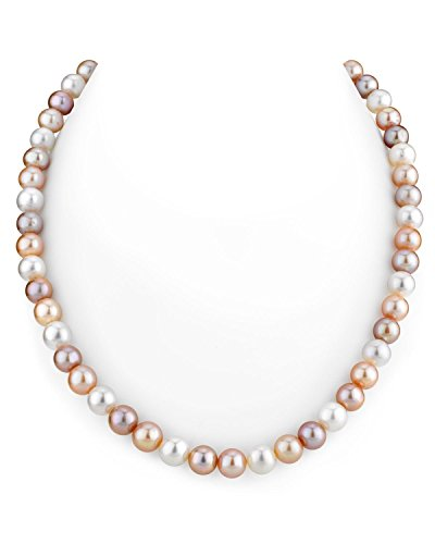 THE PEARL SOURCE 14K Gold 7-8mm AAA Quality Multicolor
